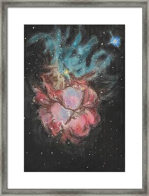 Flowers And Jellyfish Framed Print