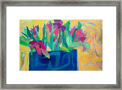Flowers And Leaves Framed Print by Diane Fine