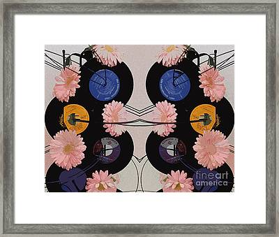 Flowers And Phonographs Framed Print by Nina Silver