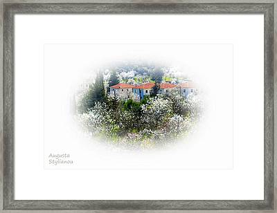 Flowers And Villas Framed Print