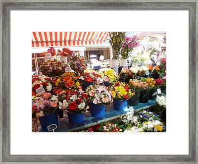 Flowers At The Market Framed Print