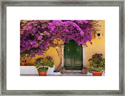 Flowers At The Monastery Framed Print by Brian Jannsen