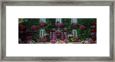 Flowers Breton Home Brittany France Framed Print by Panoramic Images