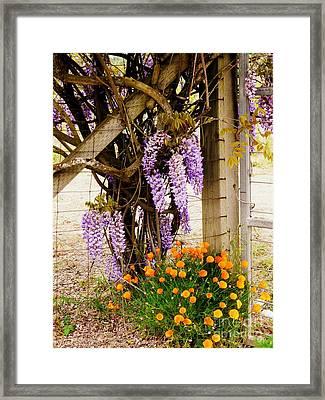 Flowers By The Gate Framed Print by Avis  Noelle