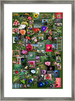 Flowers Collage Vertical Framed Print by Thomas Woolworth