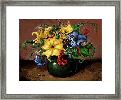 Flowers Dancing Framed Print by Terry Webb Harshman