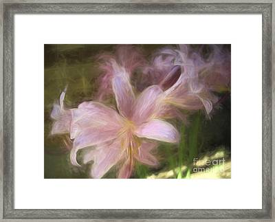 Flowers - Dreamy Lilies - Luther Fine Art Framed Print by Luther Fine Art