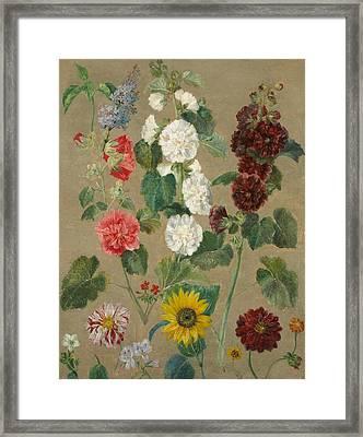 Flowers Framed Print by Ferdinand Victor Eugene Delacroix