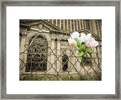 Flowers For Detroit Framed Print