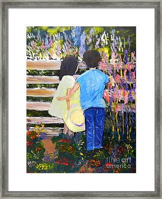 Flowers For Her Framed Print by Pamela  Meredith