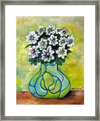 Flowers For Jenny Framed Print by Martel Chapman