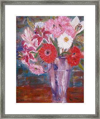 Flowers For Me Framed Print