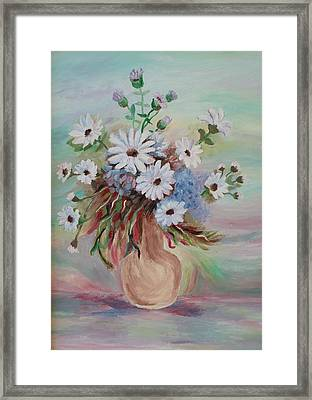 Framed Print featuring the painting Flowers For Mom by Christy Saunders Church