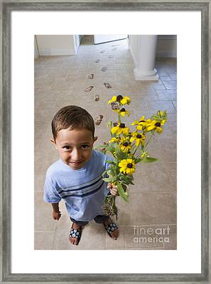 Flowers For Mom Framed Print