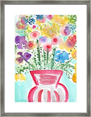 Flowers For Mom- Mother's Day Card Framed Print by Linda Woods