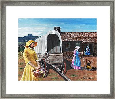 Flowers For The Homestead Framed Print by Timithy L Gordon