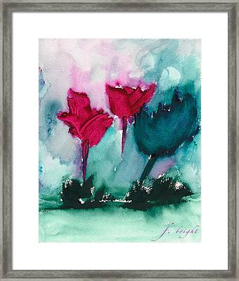 Flowers For Trees Framed Print by Frank Bright
