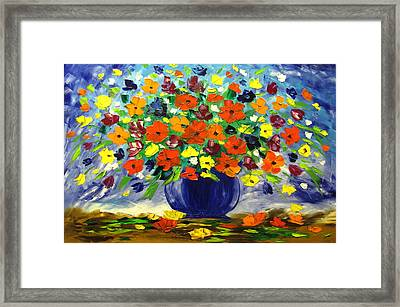 Flowers For You Framed Print by Mariana Stauffer