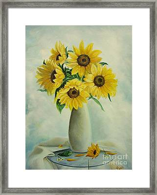 Flowers For You Framed Print by Sorin Apostolescu