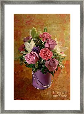 Flowers From A Friend Framed Print by Lois Bryan