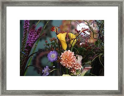 Flowers From My Window Framed Print