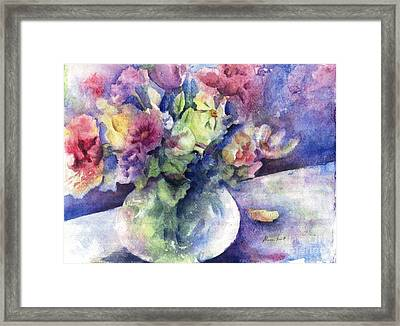 Flowers From The Imagination Framed Print by Maria Hunt