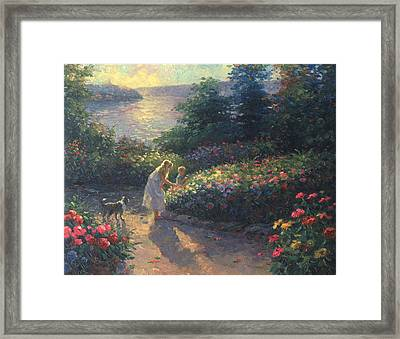 Flower's Galore Framed Print