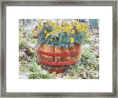 Framed Print featuring the painting Flowers by Georgi Dimitrov