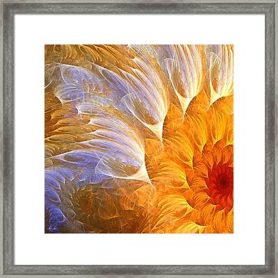 Flower's Glow Framed Print by Lourry Legarde
