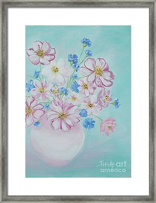 Flowers In A Vase. Inspirations Collection Framed Print