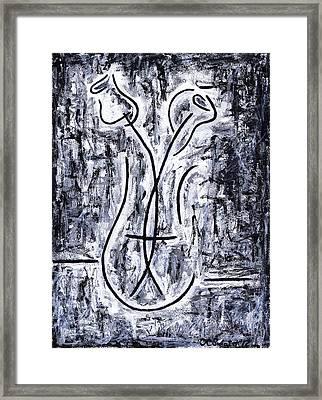 Flowers In A Vase Framed Print by Kamil Swiatek