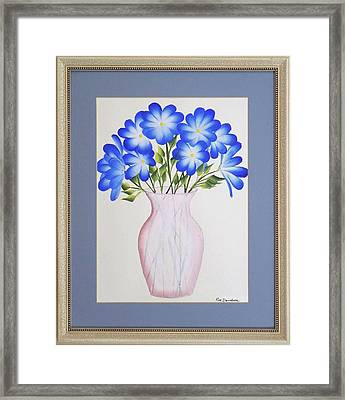 Flowers In A Vase Framed Print