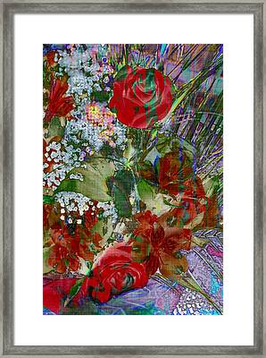 Flowers In Bloom Framed Print by Liane Wright