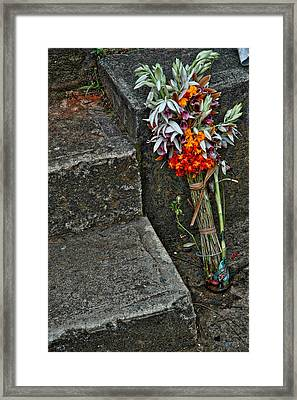 Flowers In Cuba Framed Print by Larry Sides