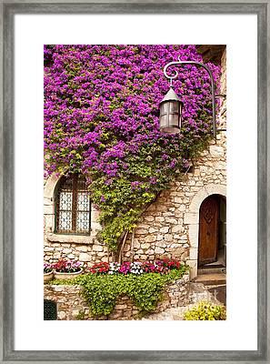 Flowers In Eze Framed Print by Brian Jannsen