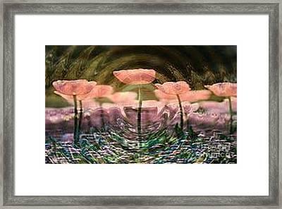 Flowers In Heat Framed Print by PainterArtist FIN