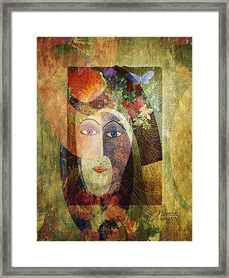Framed Print featuring the digital art Flowers In Her Hair by Arline Wagner