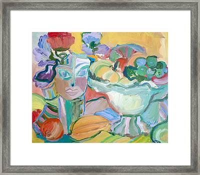 Flowers In Her Hat Framed Print by Brenda Ruark