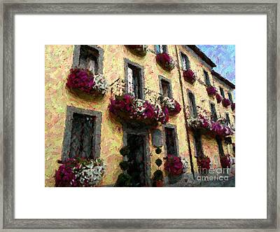 Flowers In Lazio Framed Print