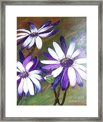 Flowers In Motion Framed Print