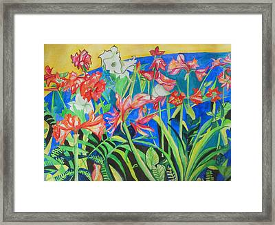 Flowers In Polyphony Framed Print