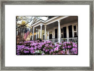 Flowers In The Front Yard Framed Print by John Rizzuto