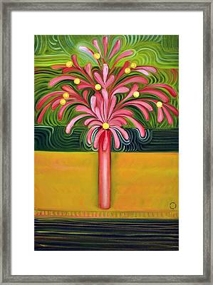 Flowers In Thin Vase Framed Print