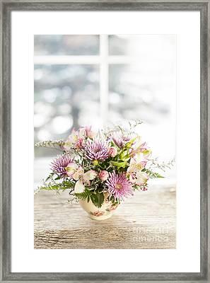 Flowers In Vase Framed Print by Elena Elisseeva