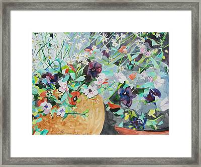 Flowers Light And Dark Framed Print