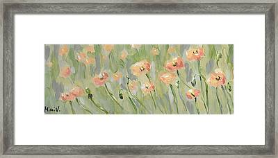 Framed Print featuring the painting California Poppies by Maria Langgle