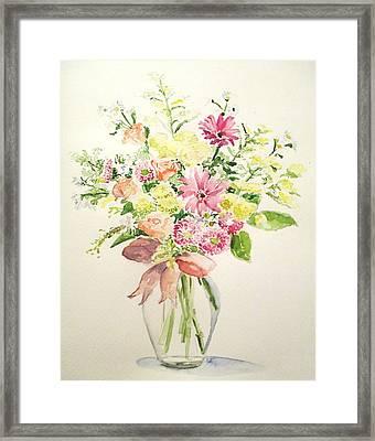Flowers Framed Print by Maria Mimi