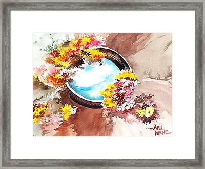 Flowers N Sky Framed Print by Anil Nene