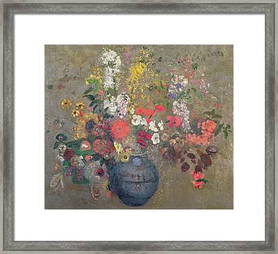 Flowers Framed Print by Odilon Redon