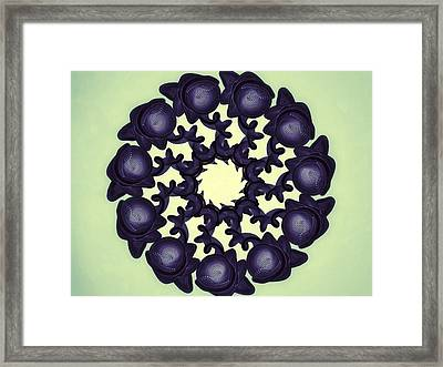 Flowers Of Algebra Framed Print by Michael Jordan